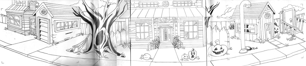 Wide 3-point perspective